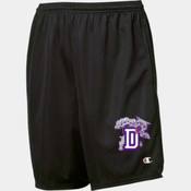 Duluth Wildcats - Champion 81622 Long Mesh Shorts with Pockets